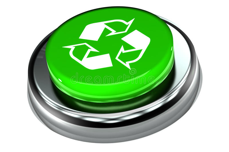 Recycle Push Button royalty free illustration