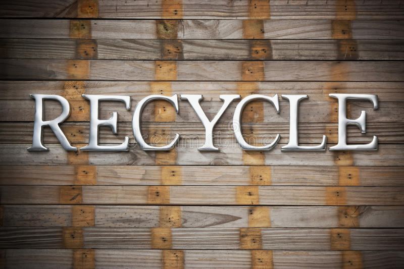 Recycle Recycling Wood Background Stock Photos