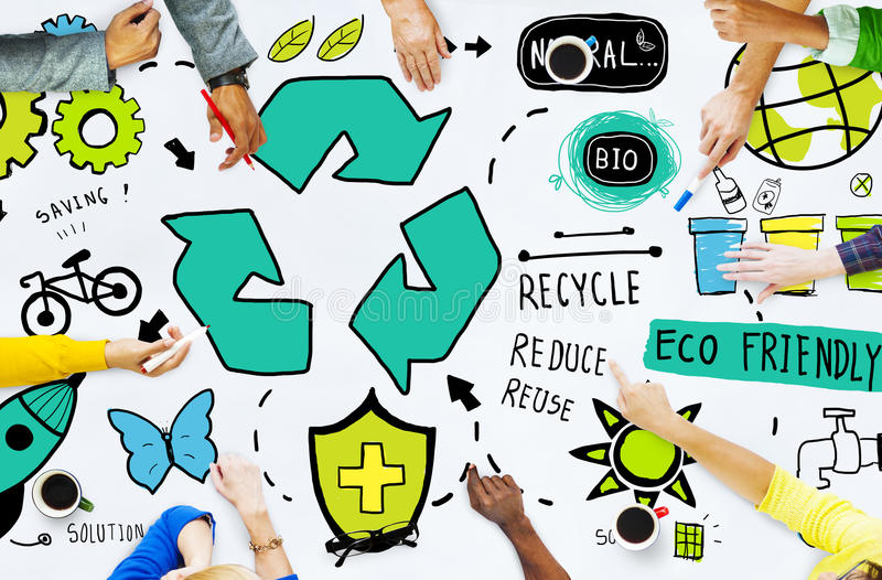 Recycle Reuse Reduce Bio Eco Friendly Environment Concept stock photography