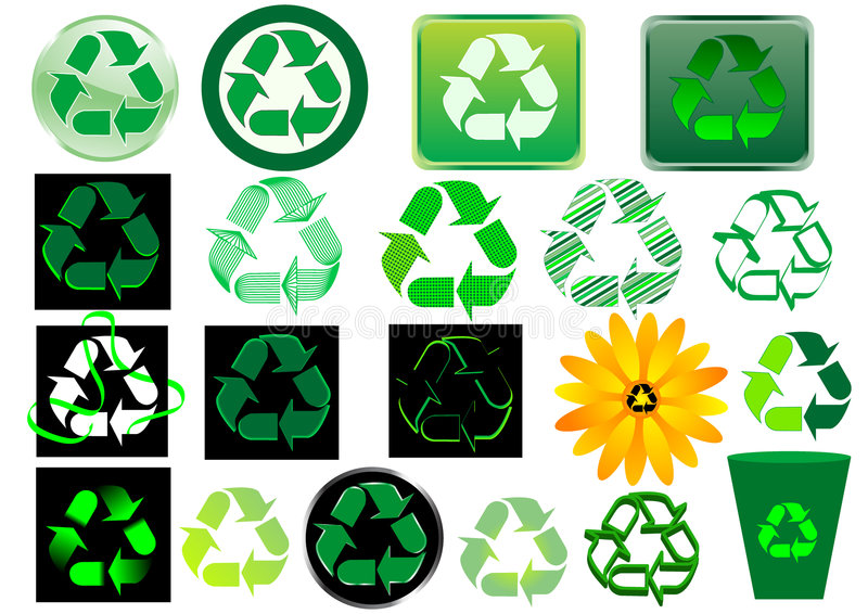 Recycle sign royalty free illustration