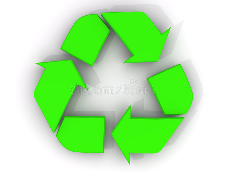Download Recycle sign stock illustration. Image of green, square - 8266106