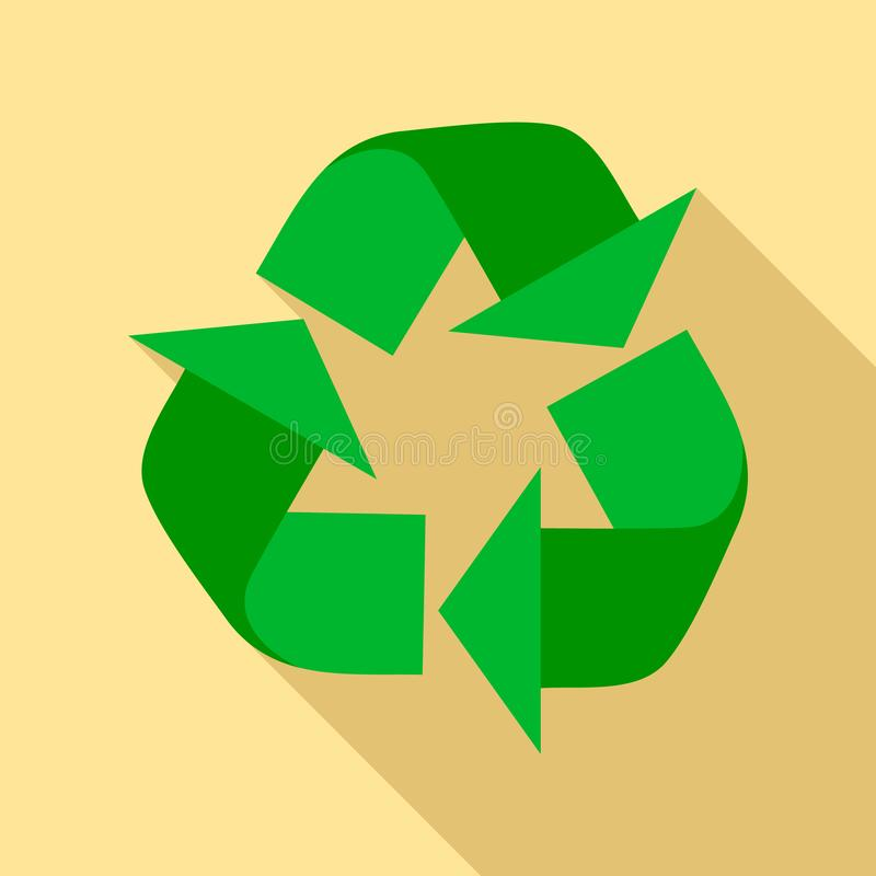 Recycle sign icon, flat style. Recycle sign icon. Flat illustration of recycle sign vector icon for web design vector illustration