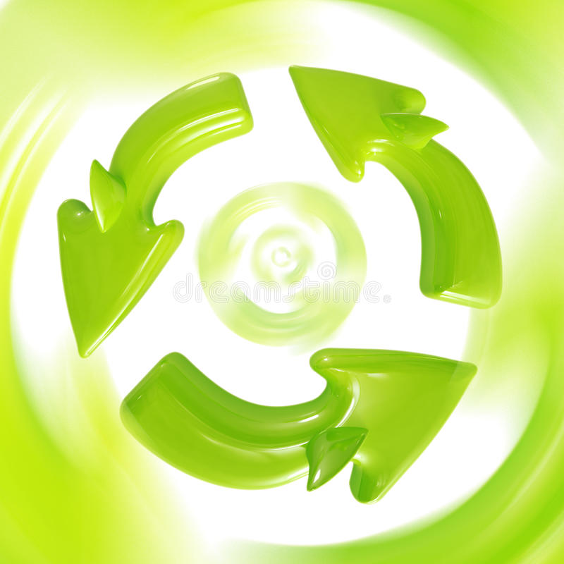 Download Recycle sign in motion stock illustration. Image of recycle - 22224696