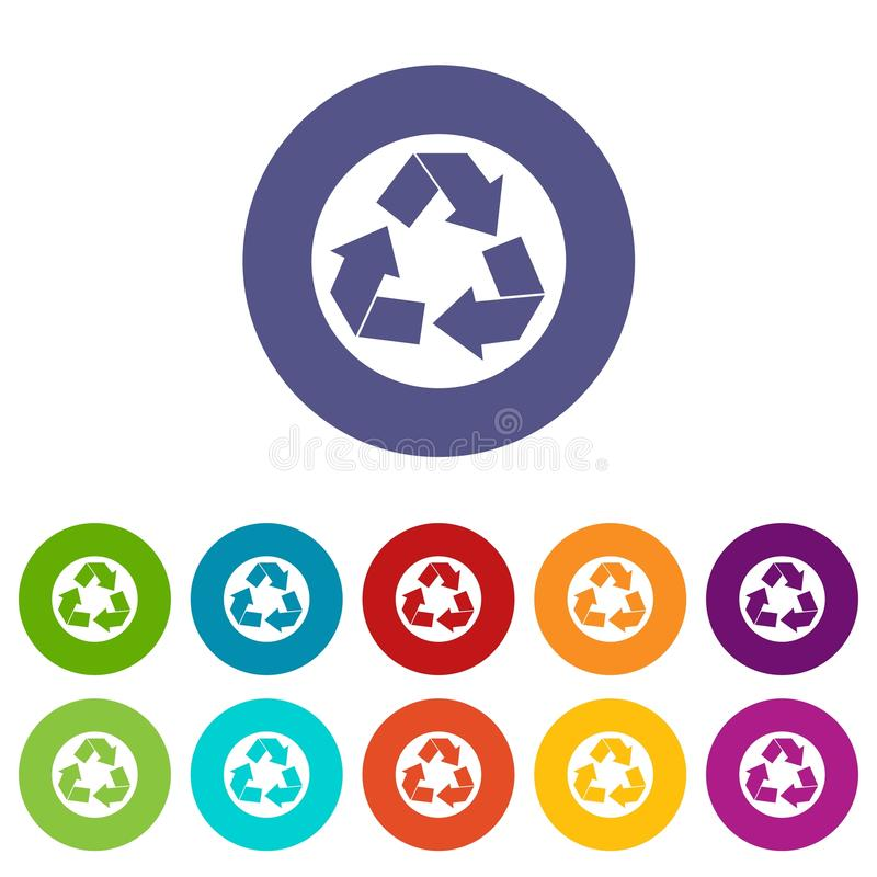 Recycle sign set icons vector illustration