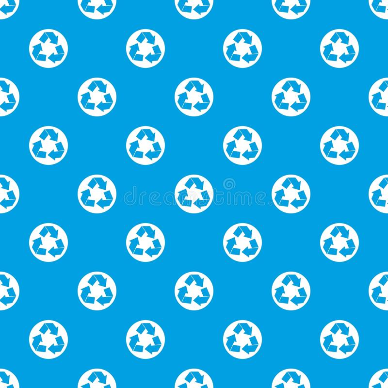 Recycle sign pattern seamless blue royalty free illustration