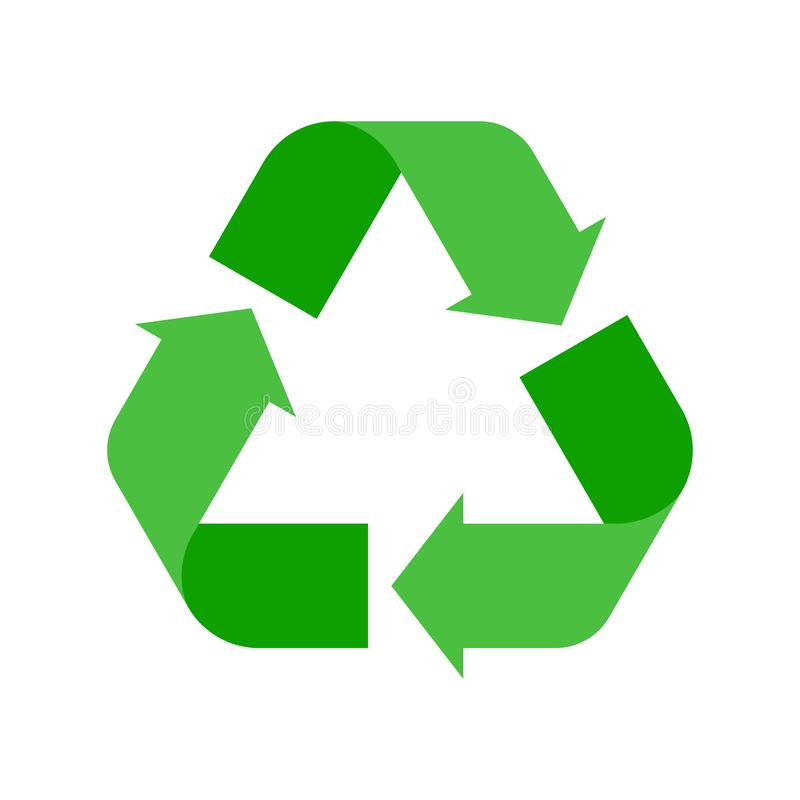Recycle sign vector illustration. Ecology reuse vector icon stock illustration