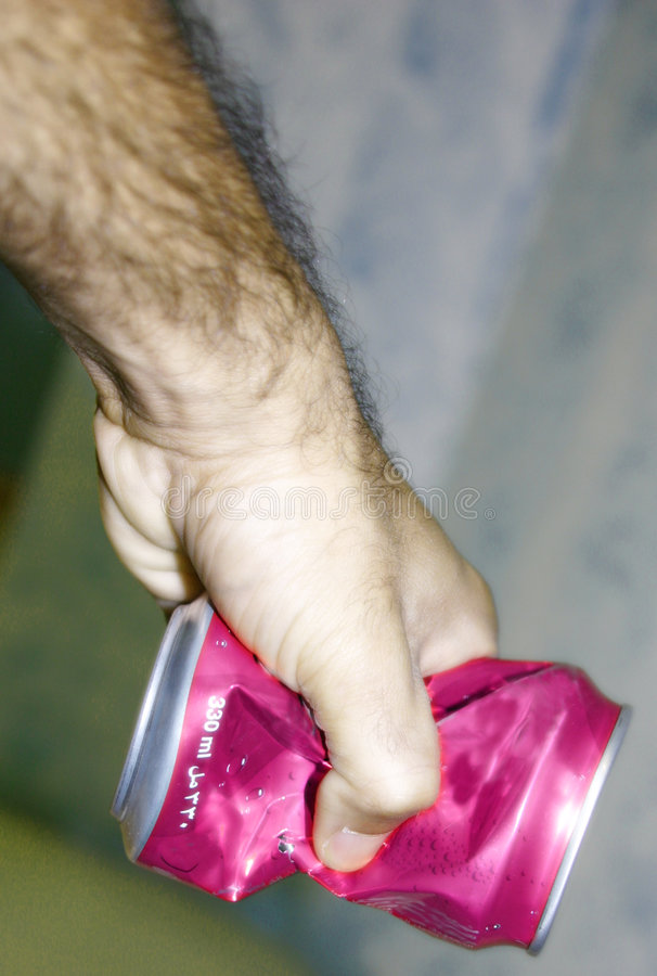 Download Recycle soft drink can stock image. Image of crumple, addiction - 1499399