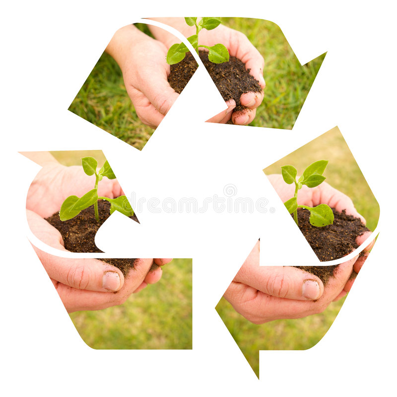 Recycle soil royalty free illustration