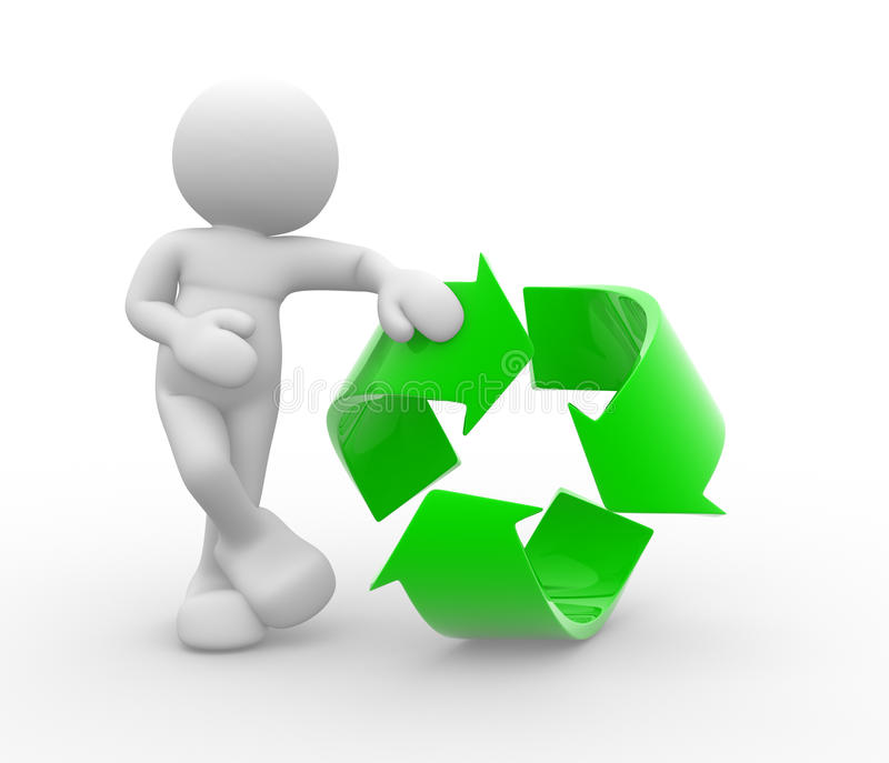 Download Recycle symbol stock illustration. Image of human, person - 20611796