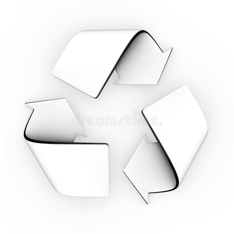 Download Recycle symbol stock illustration. Image of logo, path - 2237422