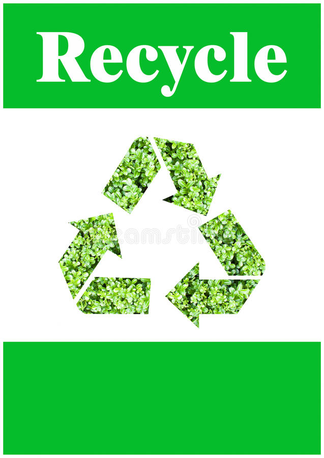 Download Recycle symbol stock illustration. Illustration of friendly - 27353205