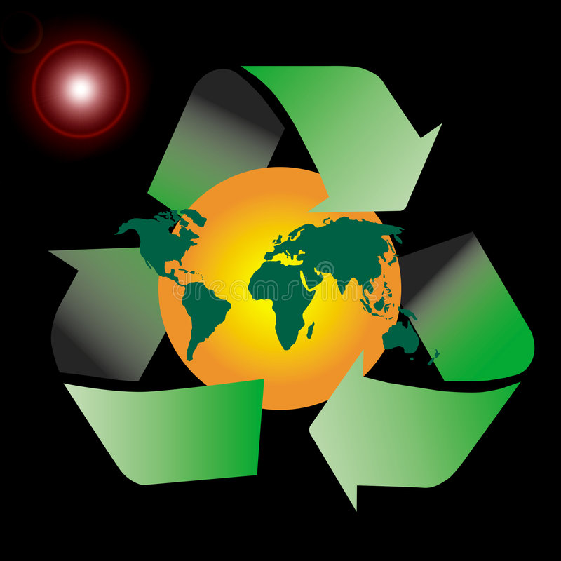 Download Recycle symbol stock illustration. Image of recycle, globe - 3085660