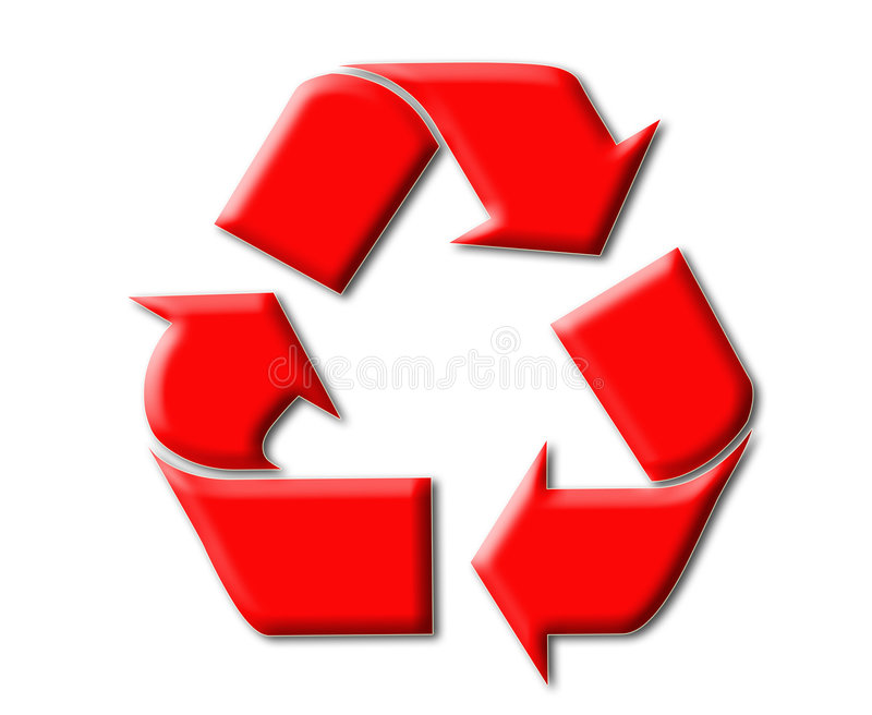 Recycle symbol royalty free illustration