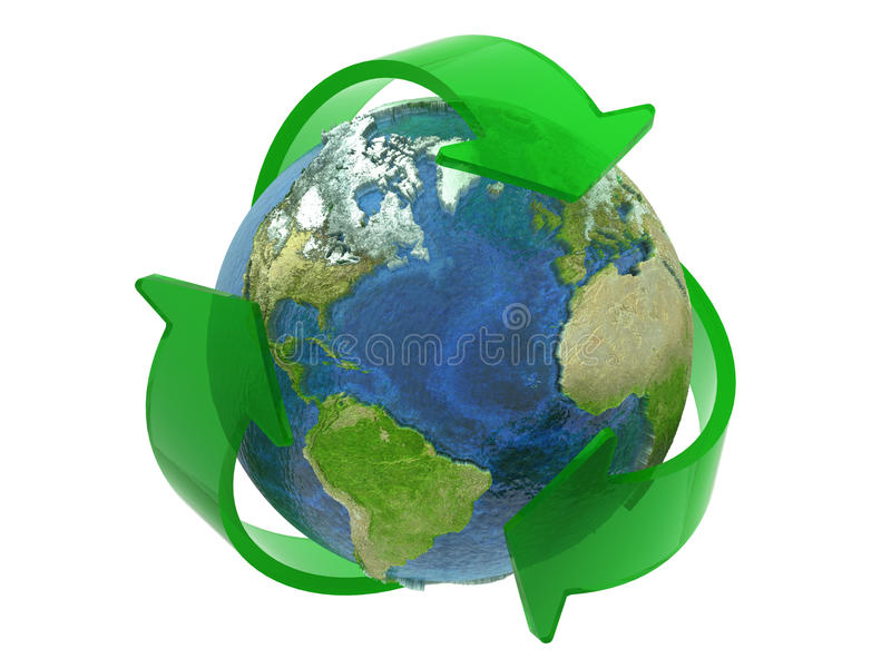 Download Recycle Symbol Around The Earth Stock Images - Image: 12205454