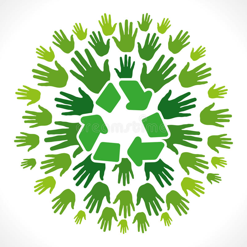 Recycle symbol cocnept vector illustration
