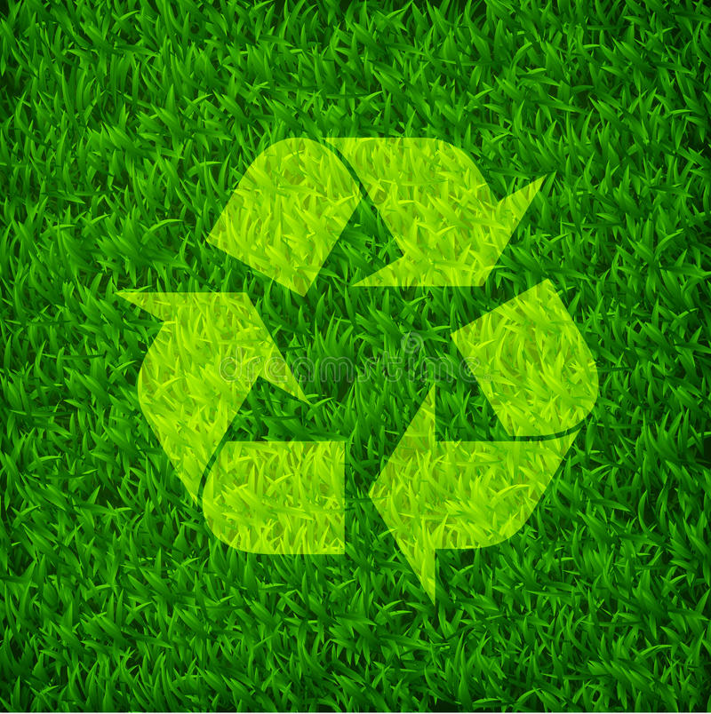 Vector Grass Recycle Symbol Stock Vector Illustration Of
