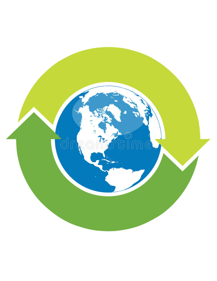 Download Recycle symbol and globe stock vector. Image of clip, background - 9370401