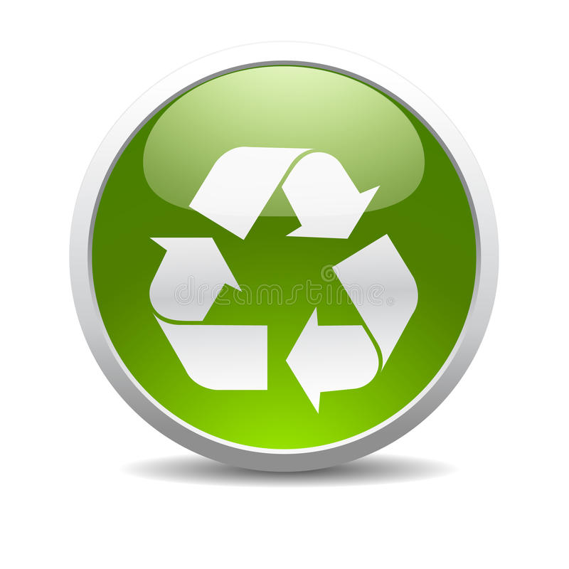 Recycle symbol icon royalty free illustration