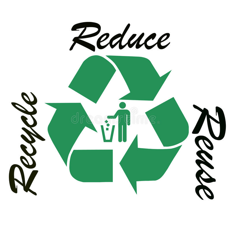 Recycle symbol illustration royalty free stock photography