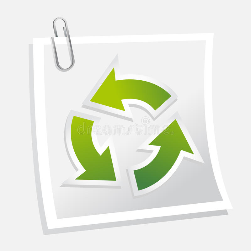 Download Recycle symbol with note stock vector. Image of page - 21245021