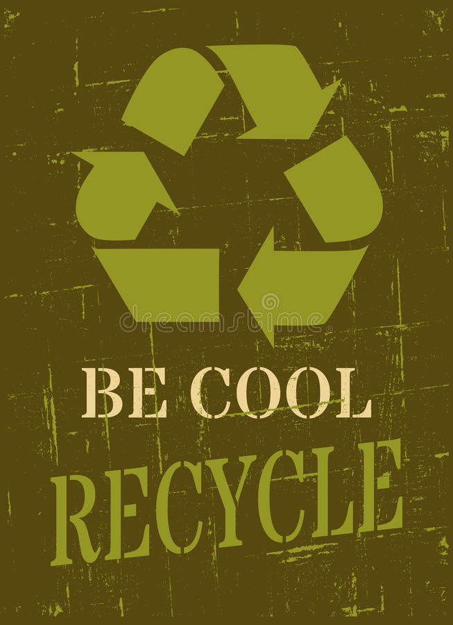 Download Recycle Symbol Poster Royalty Free Stock Photos - Image: 30373378
