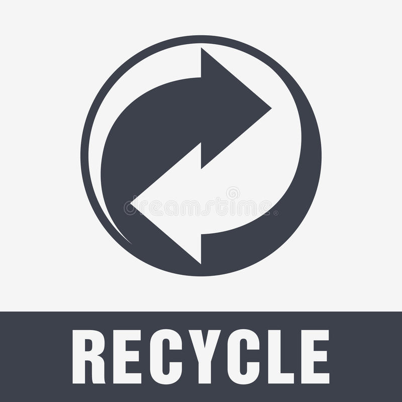 Recycle Symbol. Sign of Recycled Material. Update Icon stock illustration