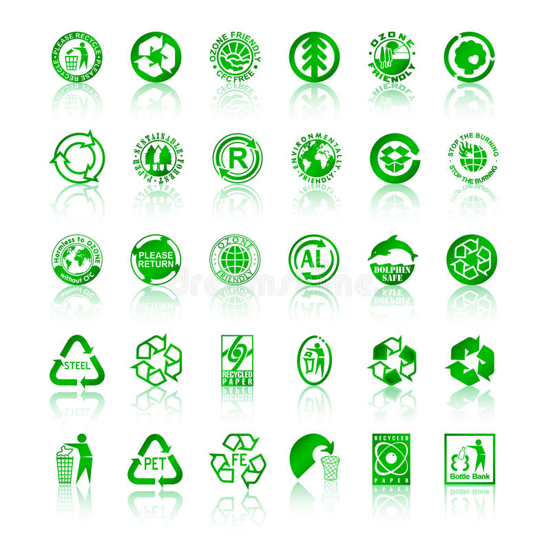 Download Recycle symbols stock vector. Image of life, conservation - 14357862