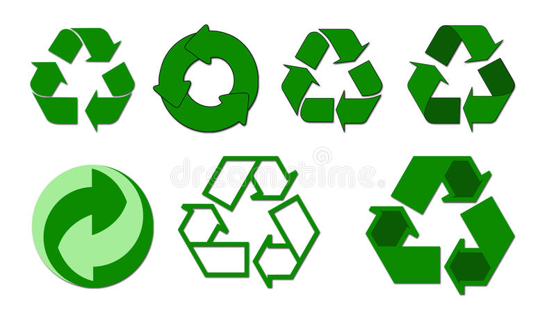 Recycle symbols royalty free stock image
