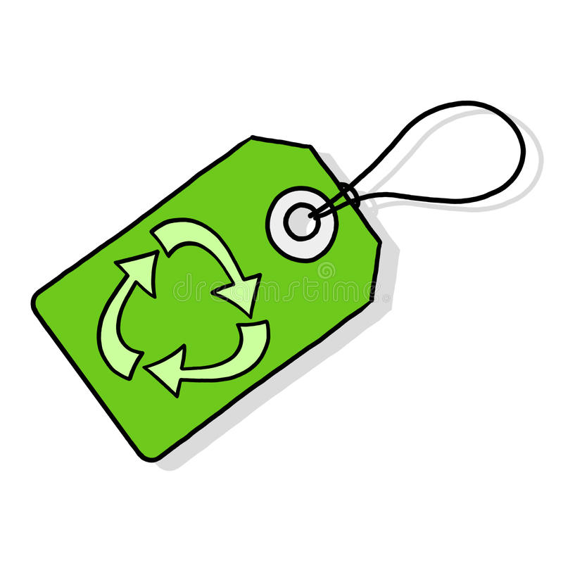 Download Recycle tag illustration stock illustration. Image of garbage - 17911700