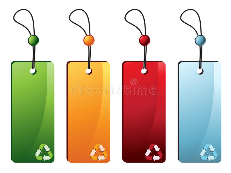 Download Recycle Tags stock vector. Image of element, payment - 18995261
