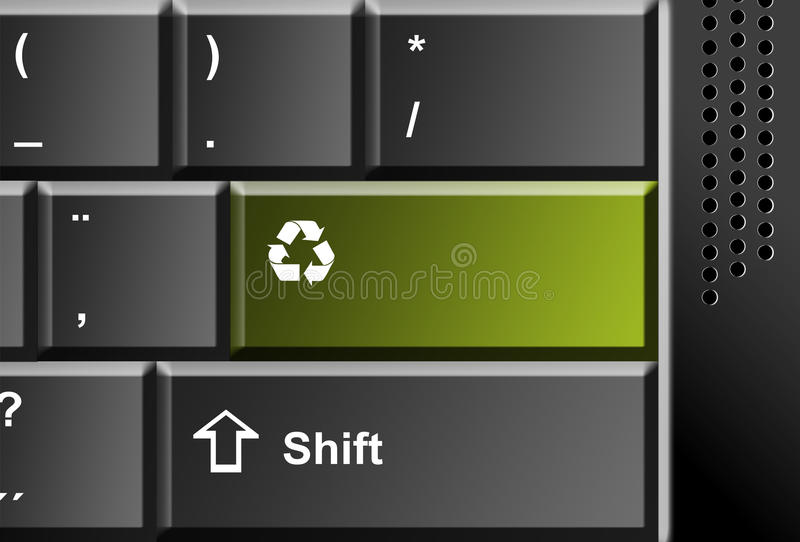 Download Recycle technology stock illustration. Illustration of blank - 10292236