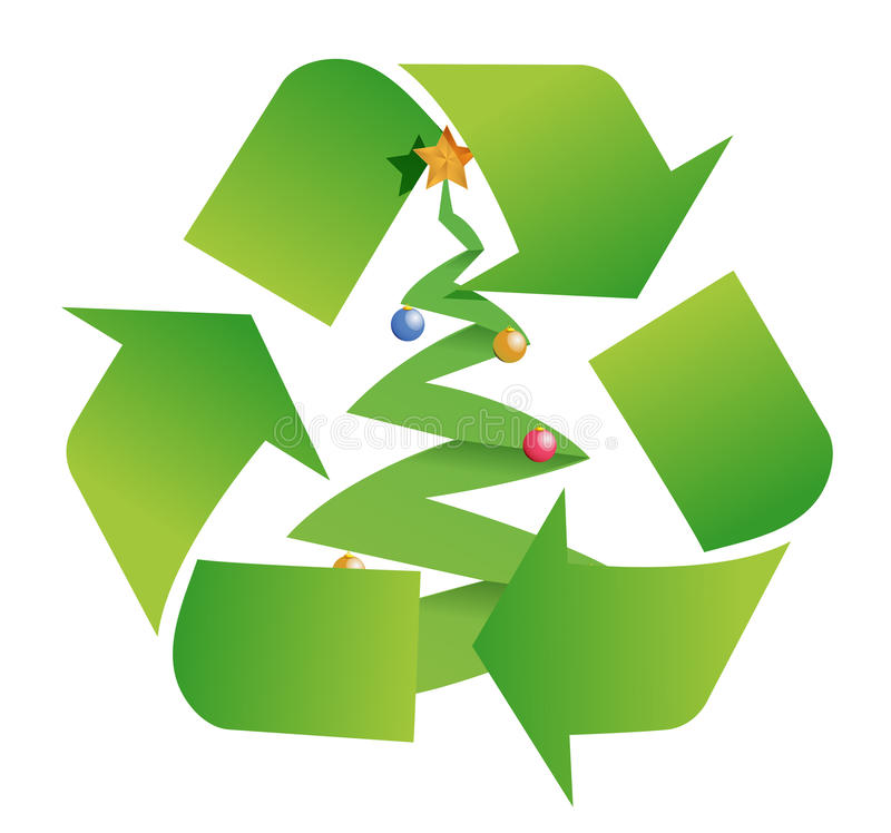 Download Recycle tree stock illustration. Image of energy, foliage - 28052959
