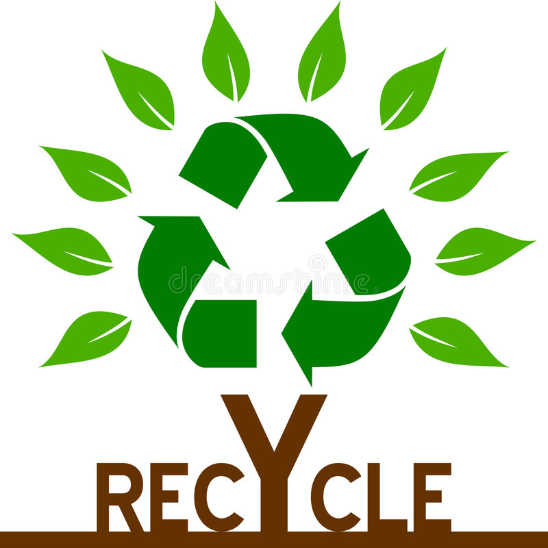Recycle Tree stock illustration