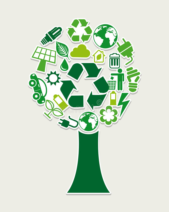 Recycle tree stock illustration