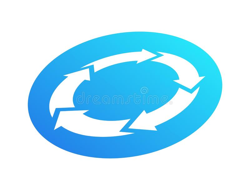 Recycle vector icon. Modern recycling sign isolated on white background royalty free illustration