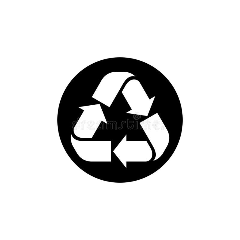 Recycle vector illustration, Recycle sign in black circle vector vector illustration