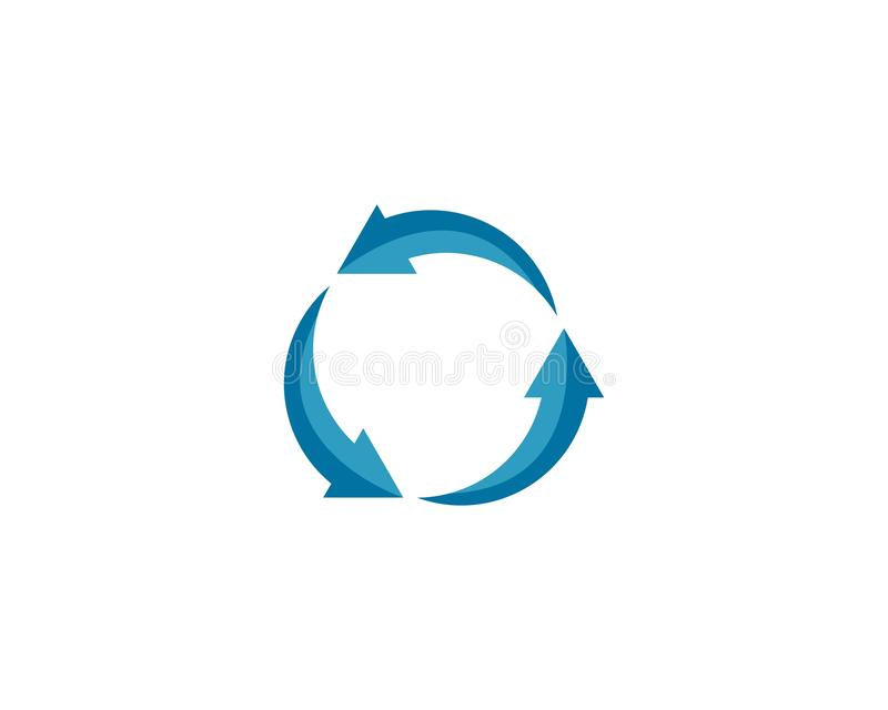 Recycle vector logo royalty free illustration