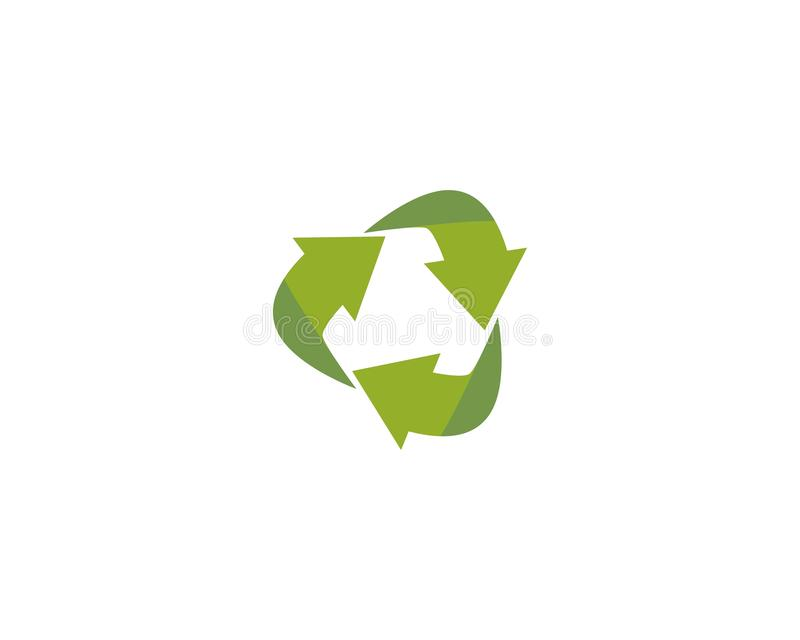 Recycle vector logo. Template vector illustration