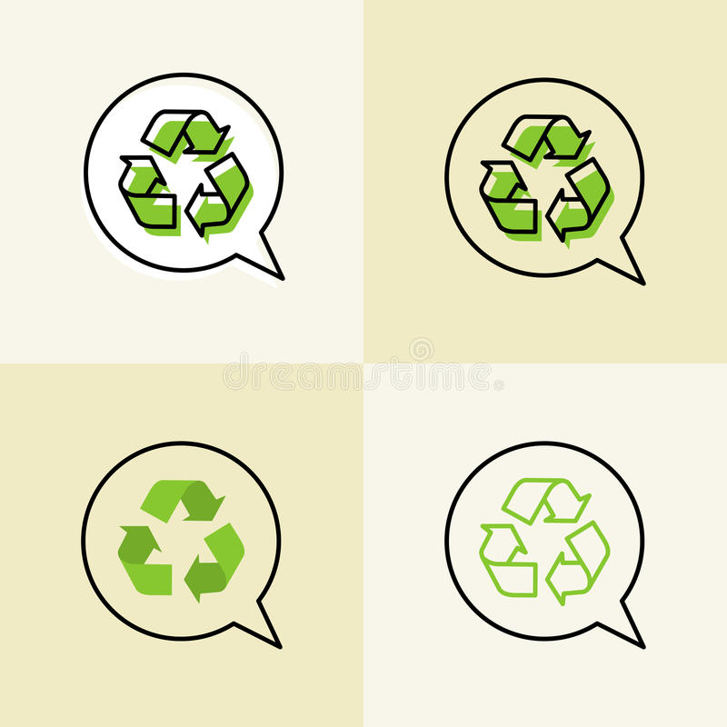 Recycle vector signs vector illustration