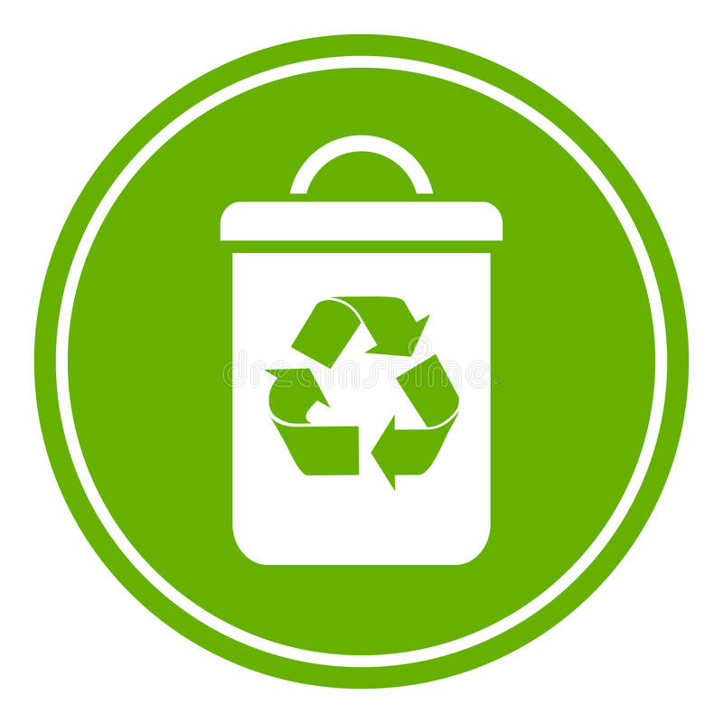 Recycle waste bin. Vector icon royalty free illustration