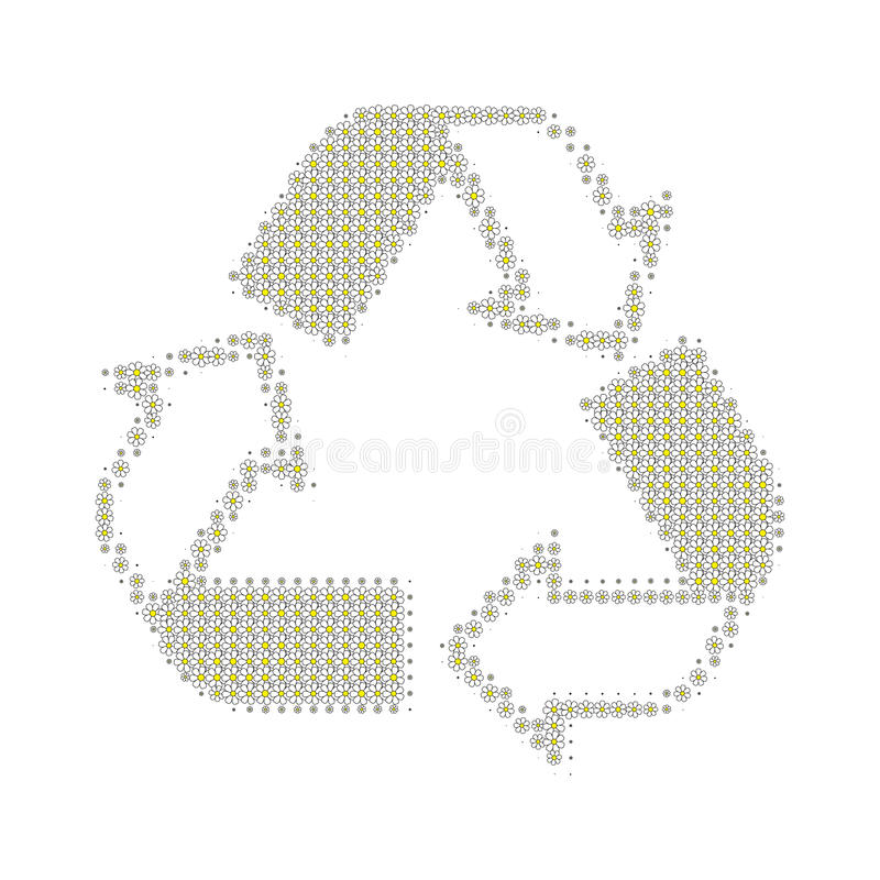 Recycle white royalty free stock photo