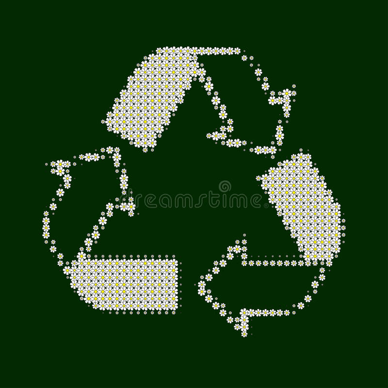 Recycle white with green royalty free stock images