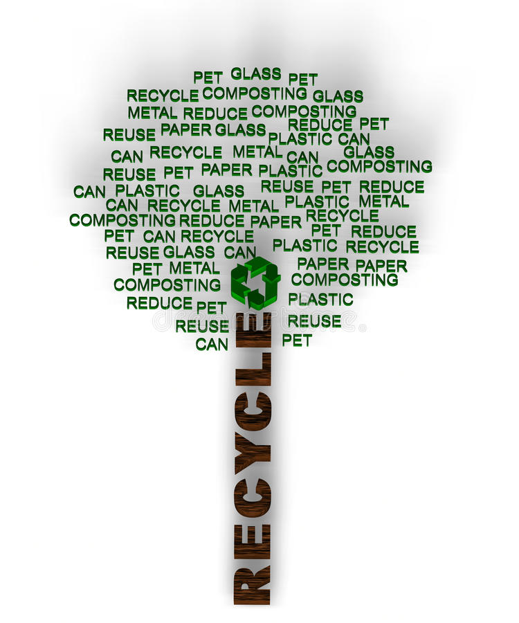 Download Recycle words related stock illustration. Image of herbal - 20448188