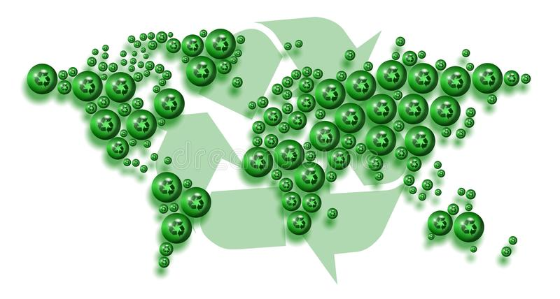 Download Recycle World Royalty Free Stock Image - Image: 25027276
