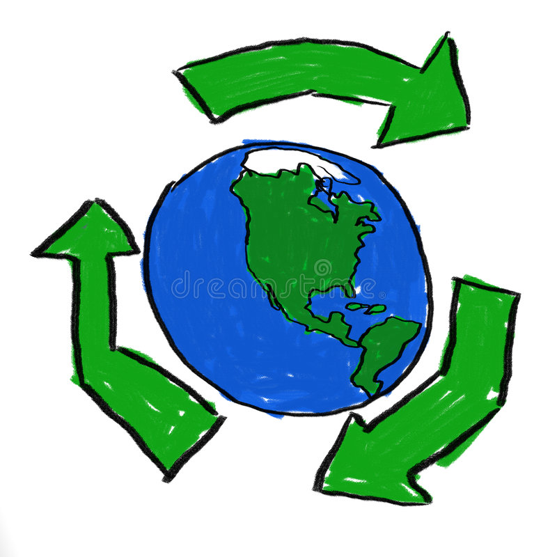 Recycle World vector illustration