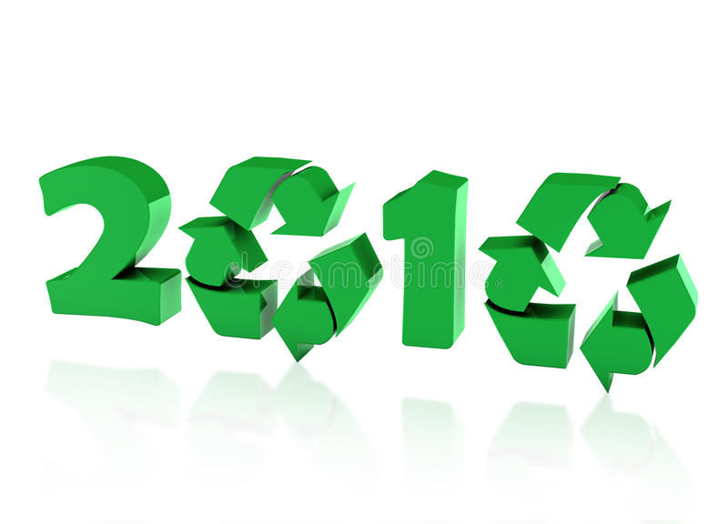 Download Recycle year stock illustration. Image of concept, zero - 12394202