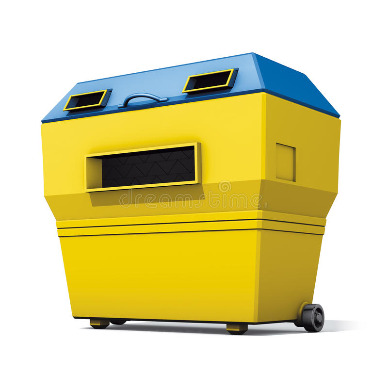 Recycle yellow container
