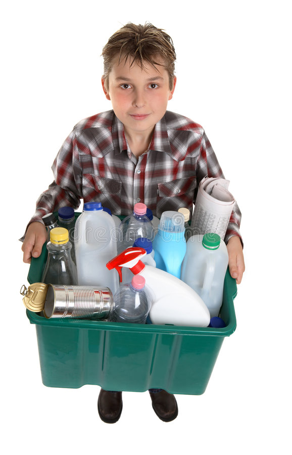 Recycle your trash stock photography