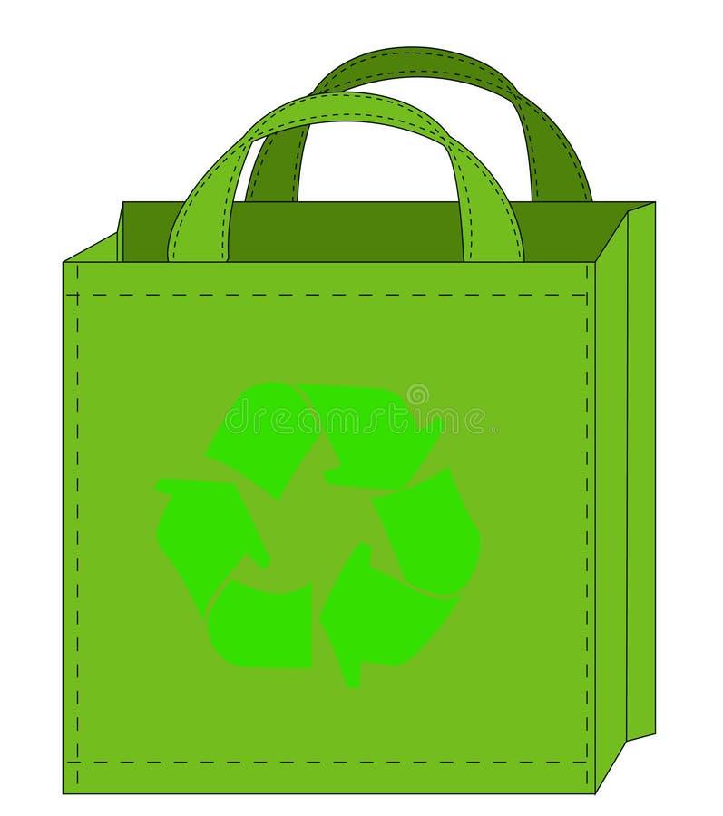 Recycleable Einkaufstasche vektor abbildung