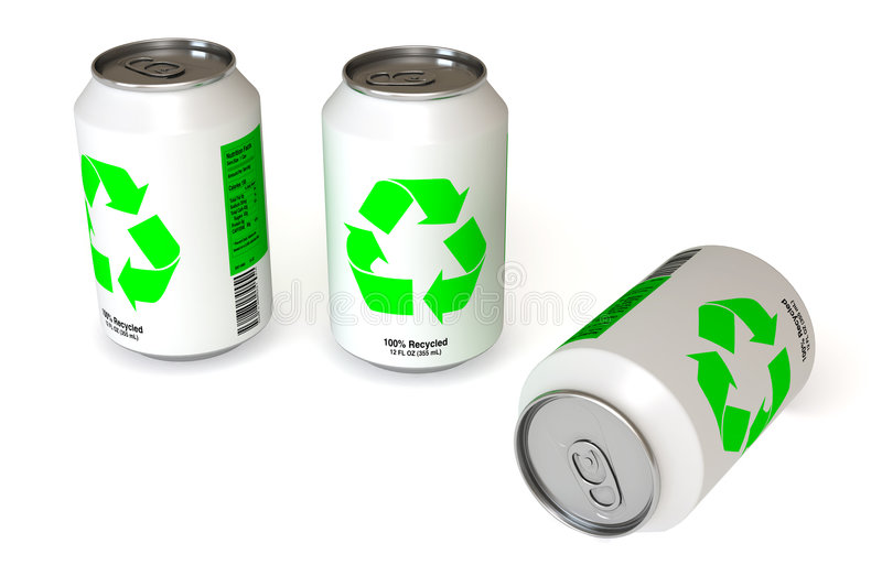 Recycled Can royalty free illustration